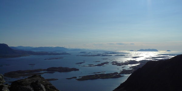 View of the southern side from our island Doenna, Helgeland - Norway. Photo: ROSITA Handcrafted Rafish Liver Oil