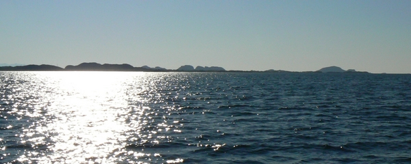 South-west view from our island Doenna, Helgeland - Norway. Photo: ROSITA Handcrafted Rafish Liver Oil