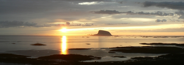 Into the Midnight Sun - from our island Doenna, Helgeland - Norway - Photo: ROSITA Handcrafted Ratfish Liver Oil